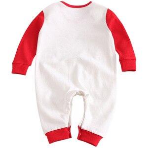 Image 4 - 2019 אביב חדש תינוקות בגדי Romper כותנה מכתב הדפסת 10.15