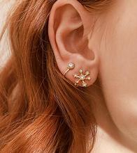 145 Cute Clip Earrings Unique New Gold Color  Branch Tragus Piercing Earring For Women Crystal Puck 2019