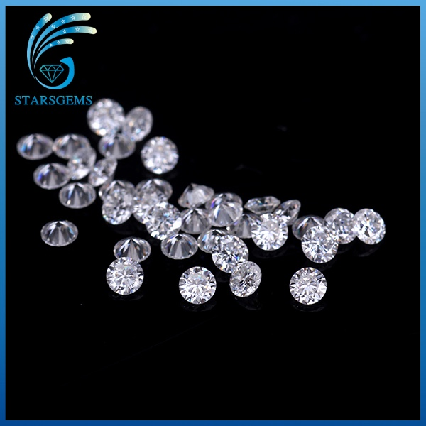 50pcs/pack test positive beads 0.8mm round shape brilliant cut GH color moissanites loose gemstone for jewelry making