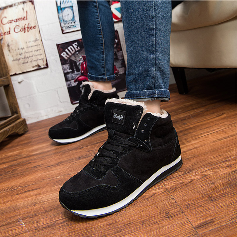 Men Shoes Winter Sneakers Suede Leather Tenis Trainers Mans Footwear Warm Winter Shoes Basket Homme Mens Shoes Casual Plus Size 3
