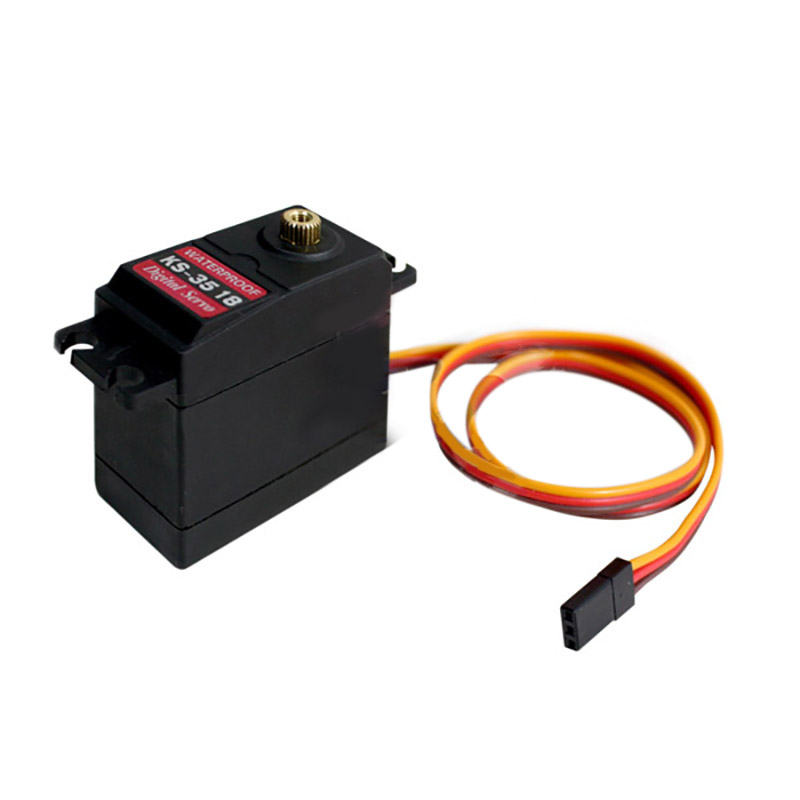 KS-3518 Waterproof High Torque Full Metal Gear RC Servos Motor Airplane Helicopter Boat Car Digital Servo 15Kg Torque Angle Of image