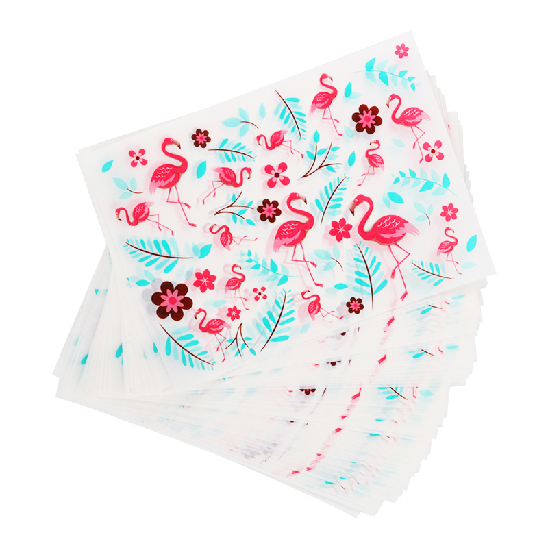 50pcs Flamingo Wrapper Paper