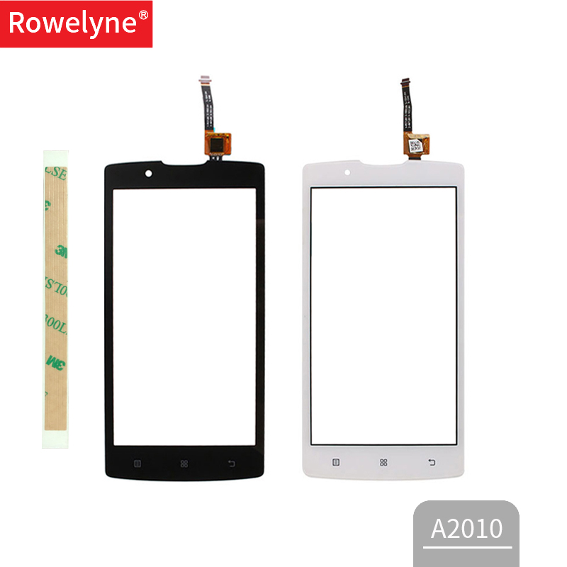 Touchscreen For Lenovo A2010 2010 Touch Screen Glass Digitizer Panel Sensor White Black Mobile Phone Repair Parts 3m Tape