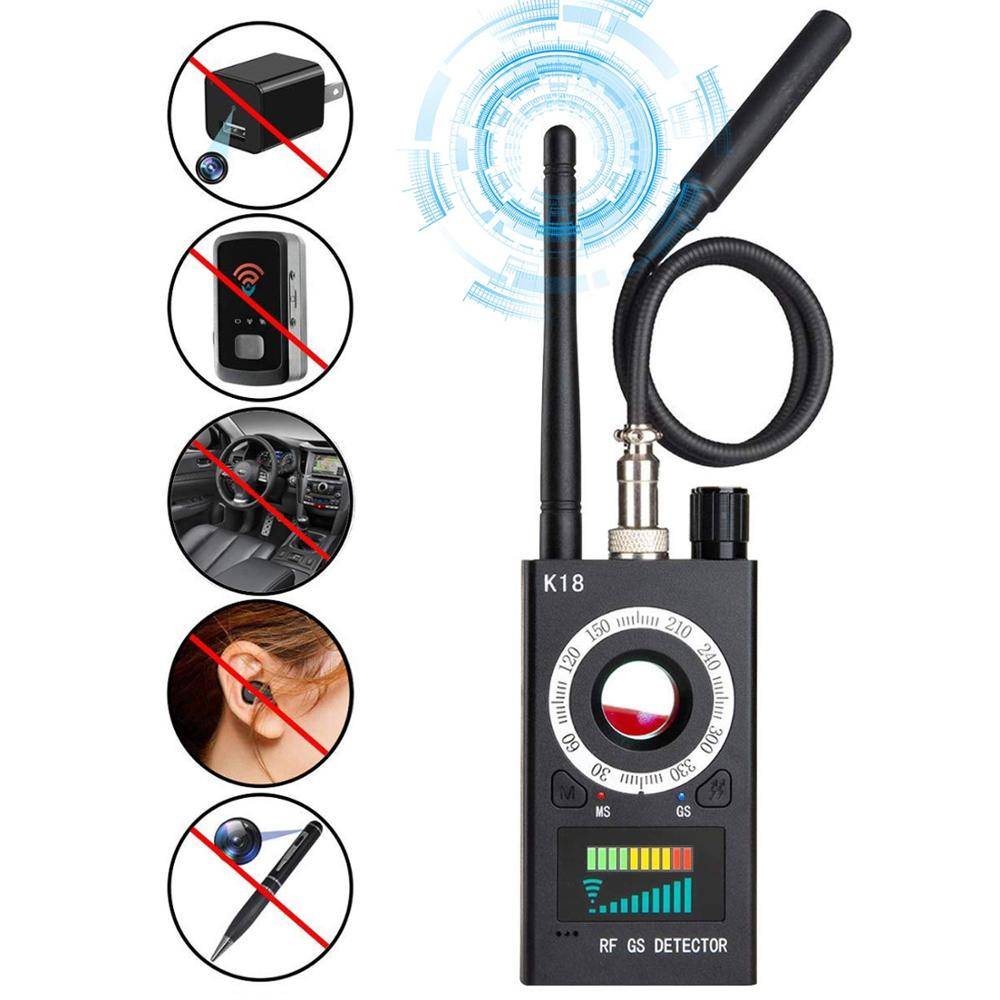 Wireless RF Signal Detector Portable Radio Bug Scanner Laser Lens Finder Gps Eavesdropping Anti Spy Candid  Camera Video Tracker