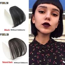 FEELSI, 13 видов цветов, заколка для волос, челка, шиньон, синтетическая имитация челок, шиньон для наращивания волос на заколках
