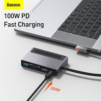 Baseus USB HUB C HUB to HDMI-compatible USB 3.0 100W PD Port For iPad Pro 2020 6 in 1 USB-C USB HUB Adapter For MacBook Pro Air
