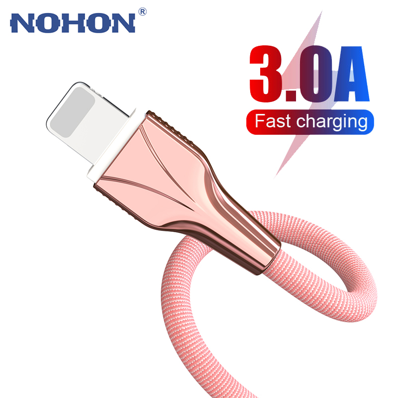 1m 2m 3m USB Charger Cable for iPhone X XR 11 Pro XS Max 8 7 6 6s Plus 5 s iPad Fast Charging Cord original Phone Data Long wire 1