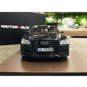 1:18 модели автомобилей Audi A8 S8 Plus 2017, модели из сплава, масштаб, игрушечный автомобиль audi, костюм, металлическая модель для миниатюрной коллекц...