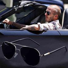 Aviação metail quadro qualidade oversized primavera perna liga dos homens óculos de sol polarizados design da marca piloto masculino óculos de condução