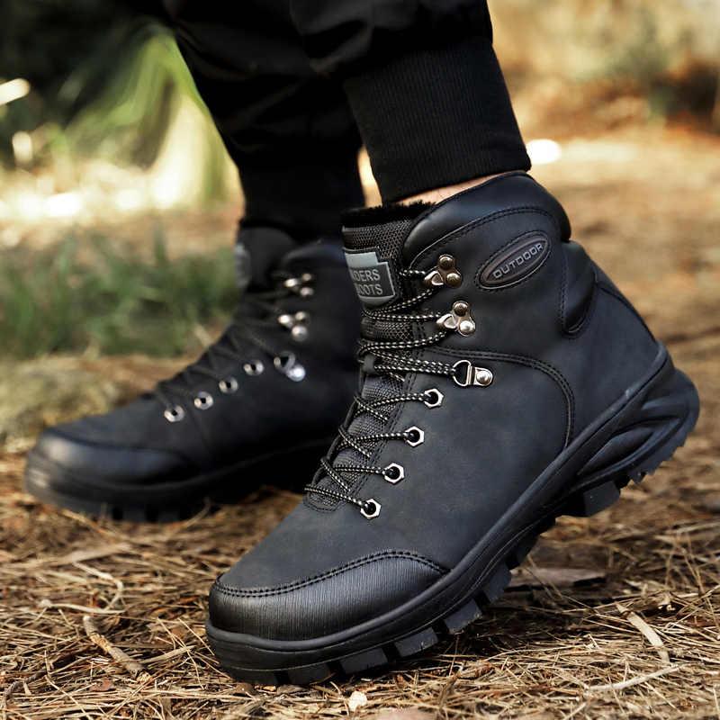 Ботинки со стальным носком мужские безопасность рабочие ботинки осень-зима на открытом воздухе Мужская Рабочая обувь защита от прокалывания обувь