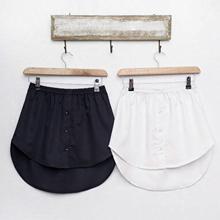 Women Fake Shirt Irregular Skirt Blouse Tail Hem Detachable Underskirt A Shirt False Mini Skirt Fake Hem Half body Befree Skirts