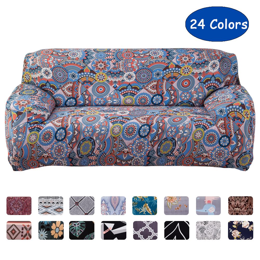 Airldianer Geometry Elastic Spandex Sofa Cover Tight Wrap All-inclusive Couch Covers For Living Room Sectional Sofa Cover Seat