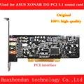 Оригинальная звуковая карта ASUS Xonar DG  PCI интерфейс 5 1 канала с оптоволоконным интерфейсом