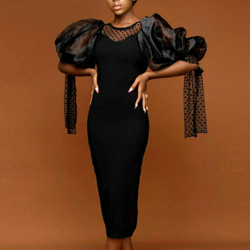 Black Party Tulle Dress