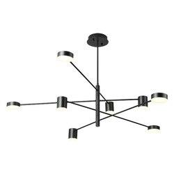 Europa północna geometryczną linią obracającą żyrandol zwięzły salon restauracja studium sypialnia oryginalność wyposażenia domu w Wiszące lampki od Lampy i oświetlenie na
