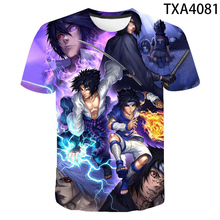 2020 New Anime Naruto 3D T Shirt kid Children Fashion Short Sleeve Tops Tees Boy Girl Short Sleeve T-shirt Golden Naruto