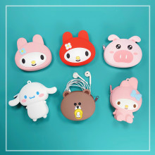 Mini Soft Silicone Coin Purse Cute Cartoon Coin Wallet Women Storage Earphone USB Keys Bag Portable Small Money Pouch Kids Purse