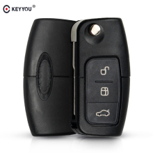 KEYYOU 433MHz 4D63 Chip 3 Buttons Flip Folding Remote Control Key for Ford Focus Fiesta 2013 Fob Case With HU101 Blade