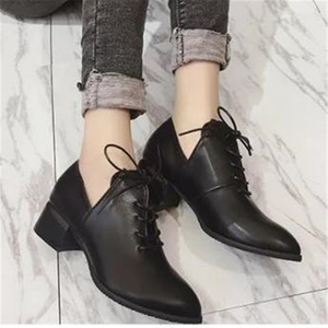 Image 3 - Ladies British vintage chunky  street shoes 2020 autumn European new style students with simple shoes elegant and  womens shoes