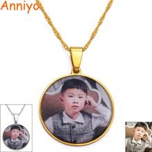 Custom Made Photo Medallions Pendant Necklaces for Women Girls Personalized pictures Jewelry Customize Gifts #134621