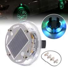 Mayitr 1pcs 12 LED RGB Car Auto Solar Energy Flash Wheel Light Colorful Tire Lamp Decoration
