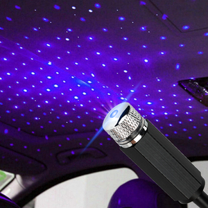 USB LED Car Roof Star Night Interior Light Atmosphere Galaxy Lamp Projector Decorative Lamp Adjustable Multiple Lighting Effects(China)