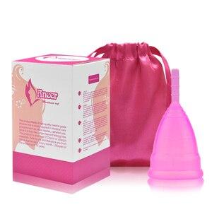 Image 1 - 50 יח\חבילה סיטונאי וסת כוס נשי רפואי כיתה סיליקון בריאות כוס קופה menstruelle וסת סיליקון כוס