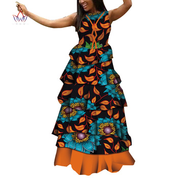 Multi-layer Dresses for Women Party Wedding Casual Date Dashiki African Women Dresses Customize African Dresses for Women WY4901