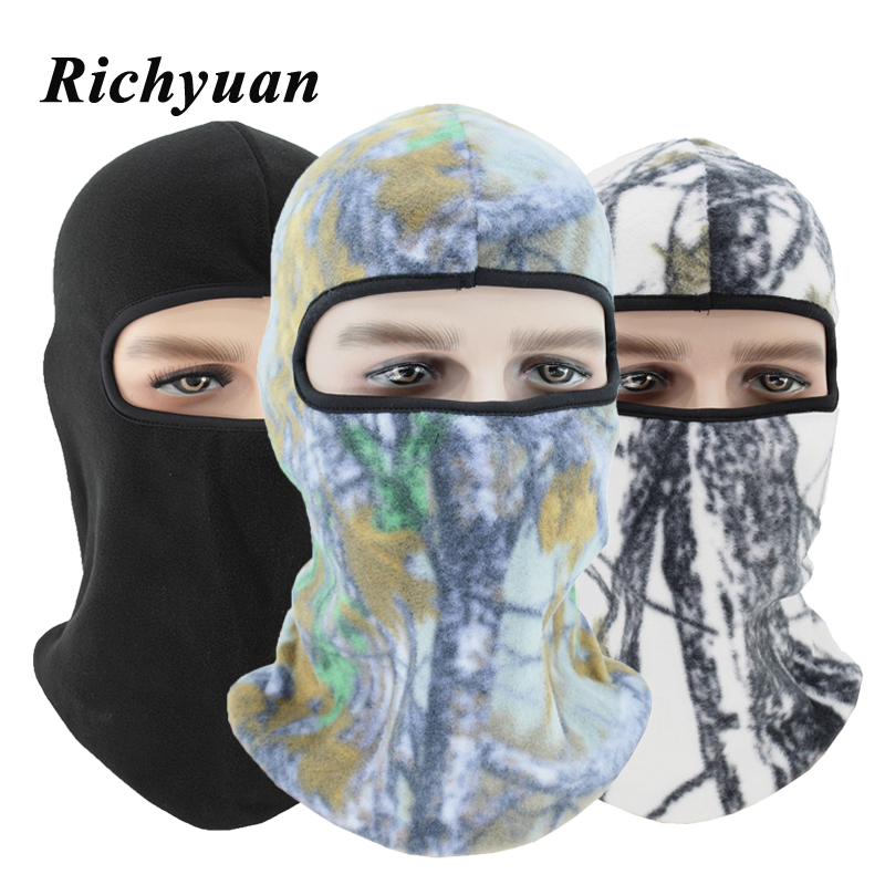 New Winter Warm Fleece Beanies Hats For Men Camouflage Bandana Neck Warmer Balaclava Face Mask Wargame Special Forces Mask