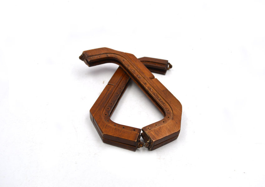 22x8cm Solid Wood Hole Wood Gold Magnet Purse Frame Wood Material Clutch Frame Sew Hole Bag Accessories Retro Vintage Color