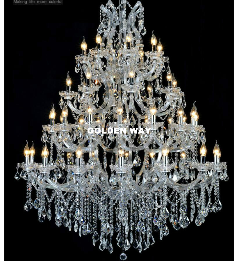 Free Shipping Luxurious  Chandelier Lighting D130cm H160cm 49L Crystal Light For Hotel Project Restaurant Lustres Luminaria Lamp