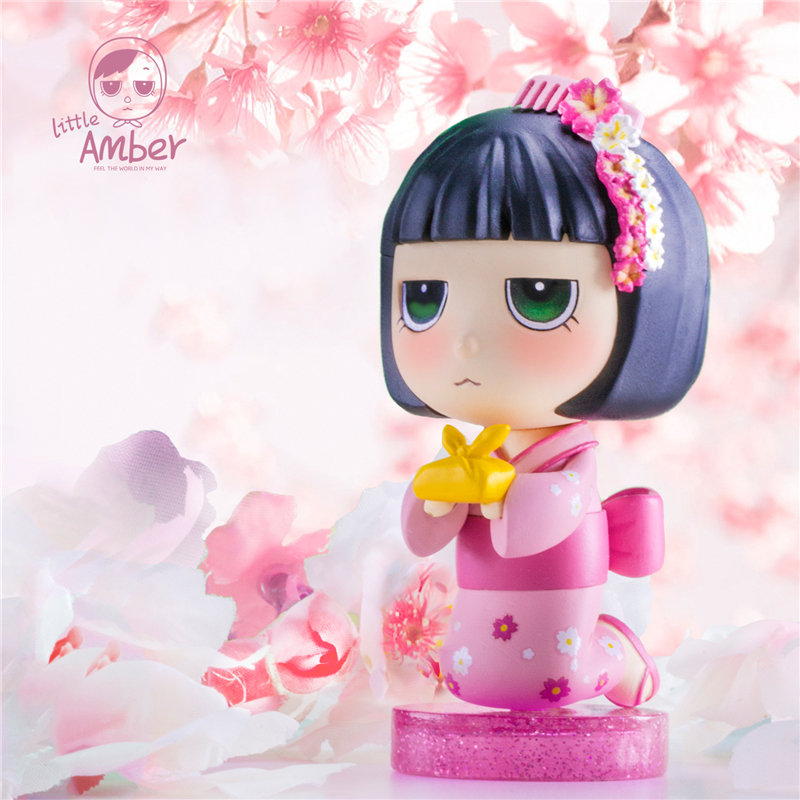 Blind Box Little Amber World Series Popular Toys Cute Gift Doll Computer Desktop Decoration Genuine
