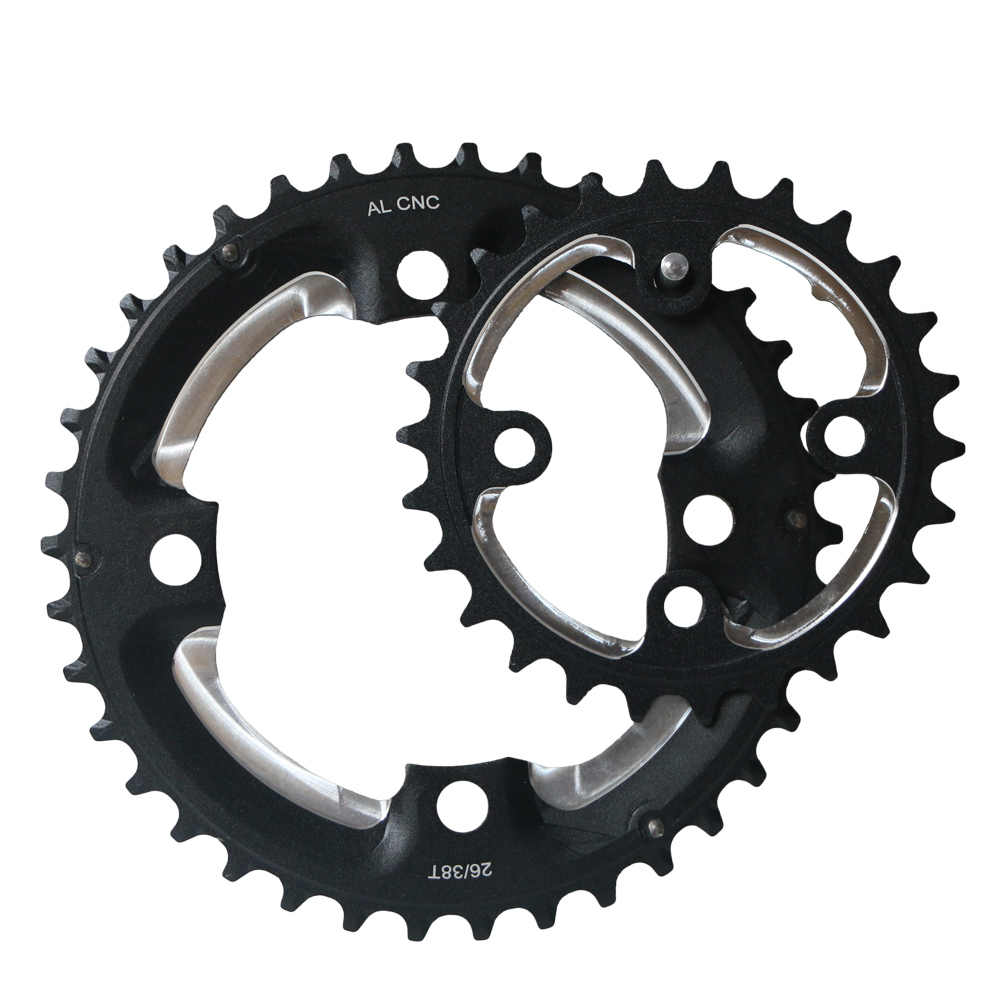 24//26//32//38//42T Double//Triple Speed Chainring MTB Bike 104//64BCD AL7075 Chainset
