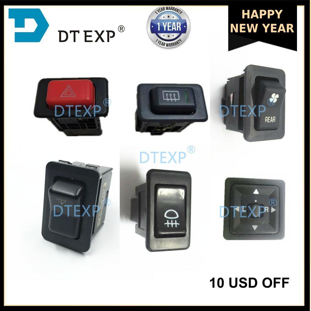 Defroster Switch For Pajero MR168570 Emergency WARNING Fog LIGHTS Switch For Montero V31 V32 V33 V43 Antenna Switch Mirror