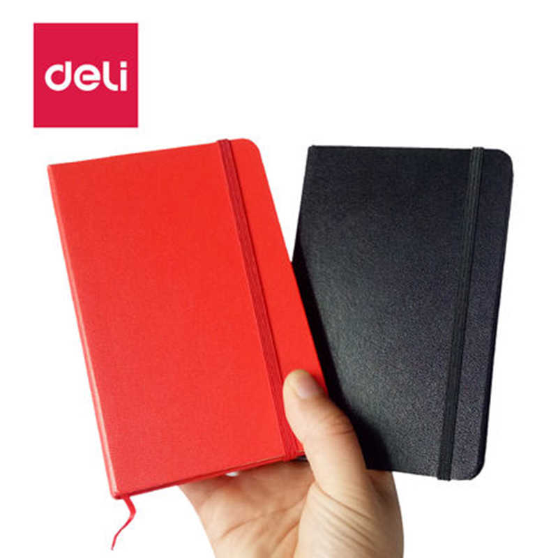 deli 3314 useful stationery pocket notebook small pocket notebook notepad 14*9cm portable notebook daily memos PU cover copybook