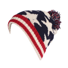 2019 Winter New Unisex United States British Flag Pattern Knitted Wool Hat Pullover Beanie Jacquard Warm Earmuffs Hat(China)
