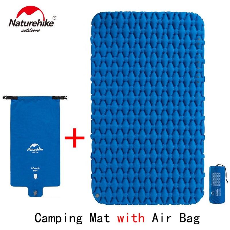 Naturehike Lightweight Moisture-proof Air Mattress Nylon TPU Sleeping Pad Inflatable Mattress Camping Mat For 2Person NH19Z055-P