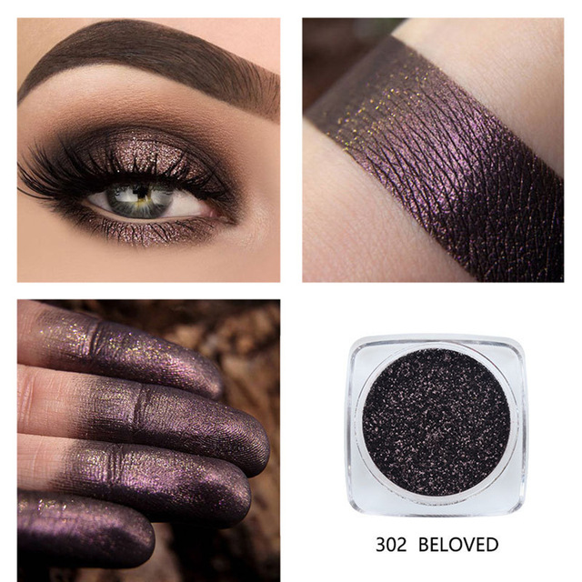 Phoera 12 Color Glitter Eyeshadow Long Lasting Eye Shiny Shadows Matte Makeup Palette Waterproof Easy To Color Pigment Eyeshadow
