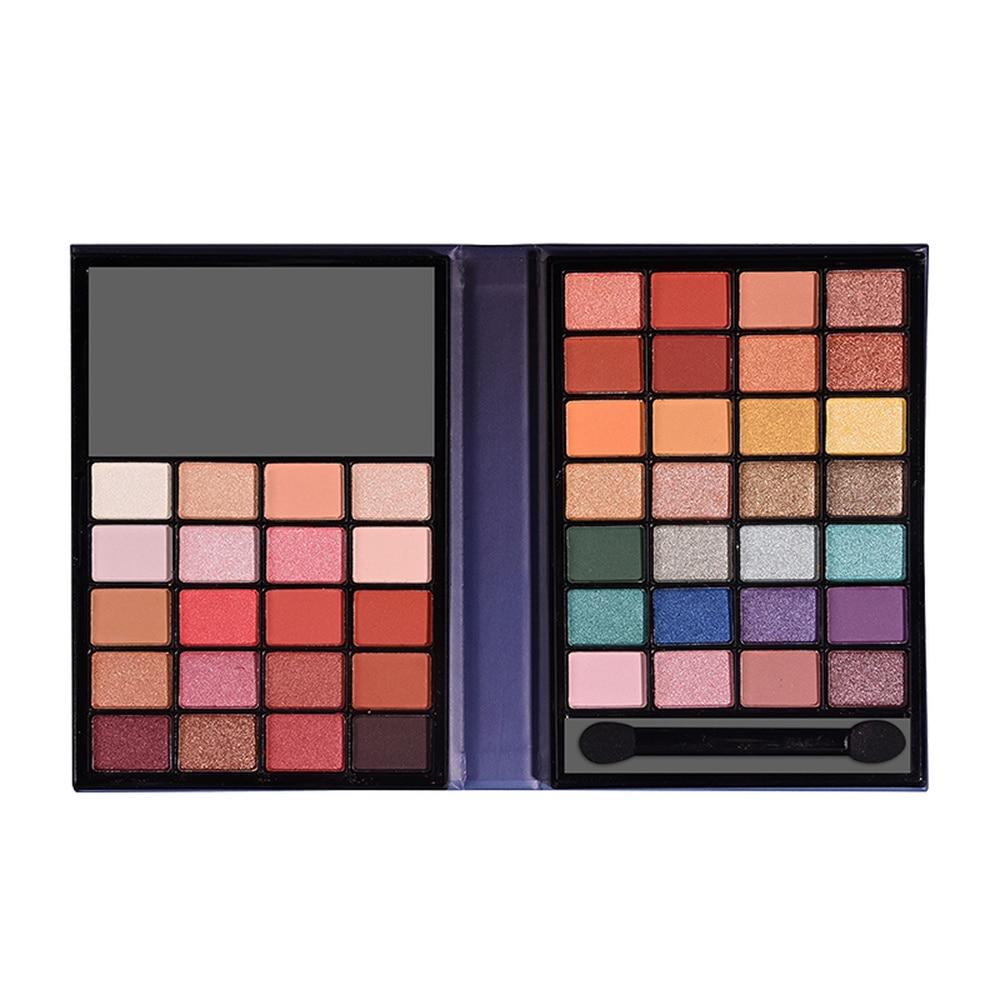 Портативная маленькая палитра теней для век для макияжа, 48 цветов, с зеркалом, матовые веганские тени для век, палитра с высоким пигментом, к...