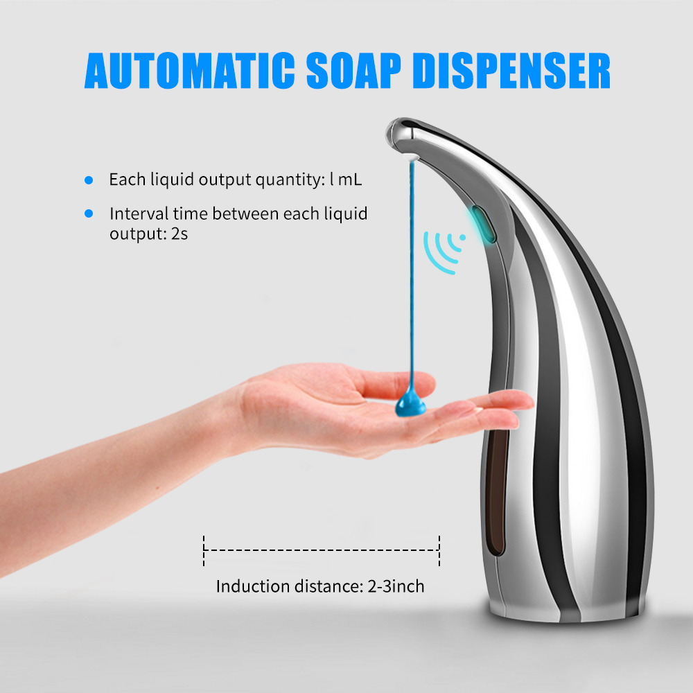 Automatic and Waterproof Soap Dispensers with Infrared Smart Sensor and Adjustable Soap Quantity for Home Office and Hotels 7