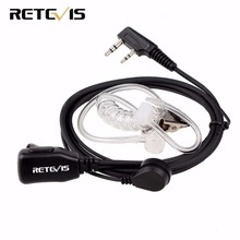 Retevis PTT MIC портативная рация с наушниками гарнитура для KENWOOD BAOFENG UV-5R BF-888s Retevis H777 RT22 TYT HYT Walkie Talkie C9003A