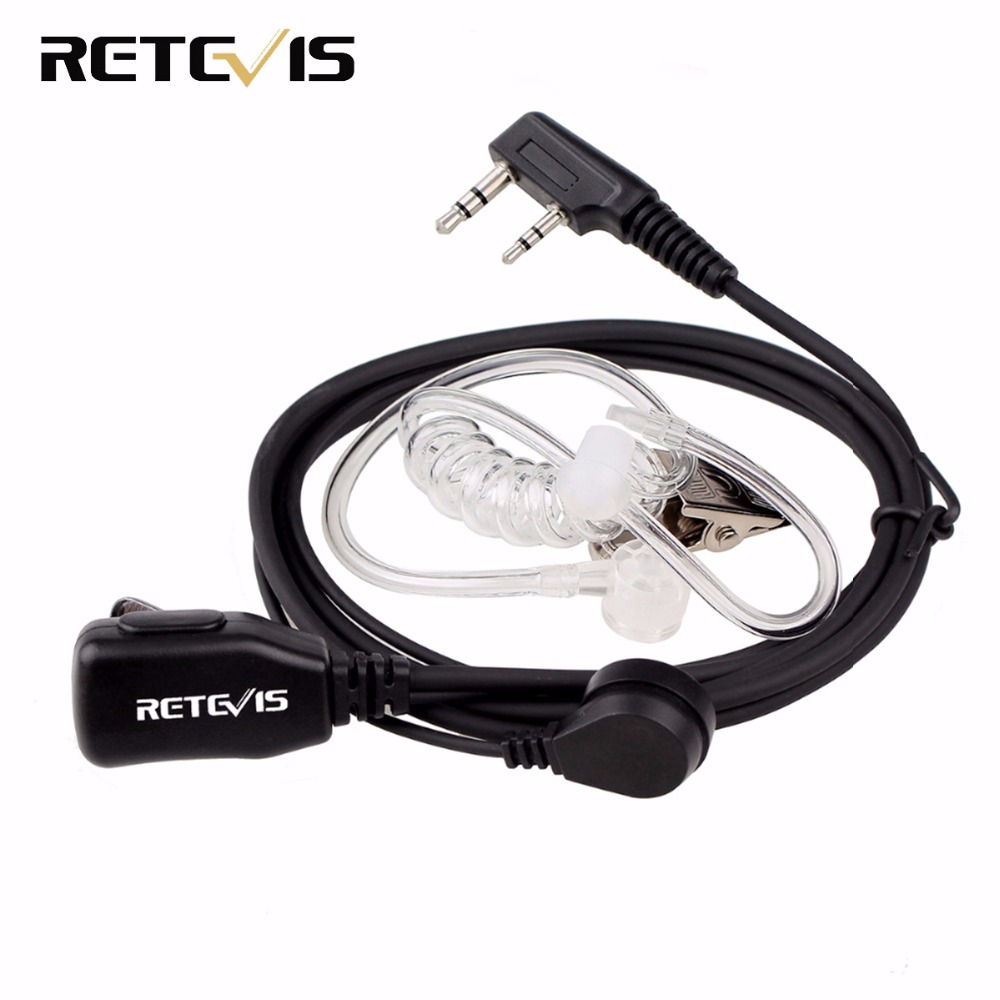 Retevis PTT MIC Earpiece Walkie Talkie Headset For KENWOOD BAOFENG UV-5R BF-888s Retevis H777 RT22 TYT HYT Walkie Talkie C9003A