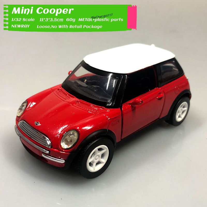 Newray 1/32 Scale Classic Car Model Toys Mini Cooper Diecast Metal Car Model Toy For Gift,Collection,Kids