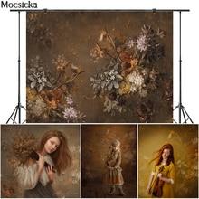 Mocsicka Art Painting Flowers Photography Background Newborn Child Pregnant Woman Photo Decorative Props Backdrop Photo Studio