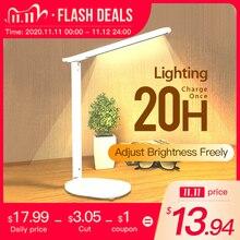 Lampe tactile pliable et rotative, luminaire à intensité réglable, idéal pour un bureau ou une Table, avec batterie rechargeable par USB à LED degrés