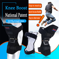 1 pair Knee Joint Booster Spring Knee Pad Brace Support at Arthritis Orthopedic Kneepad for Sport Patella Protector Powerleg