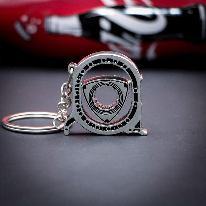 Auto Spinning Rotary Engine Model Car Keychain Key Ring Rotor Keyfob Key Chains    - AliExpress