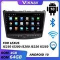 Автомобильный радиоприемник для Lexus IS250, IS300, IS200, IS220, IS350 2005-2012, Android 10, стерео, мультимедийный плеер, головное устройство с GPS-навигацией, 2 Din