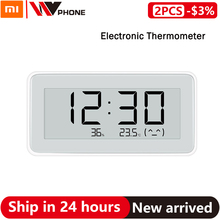 Xiaomi Mi Mijia חכם טמפרטורת לחות ניטור אלקטרוני דיגיטלי שעון שעון E קישור מדחום מד לחות Mi הבית