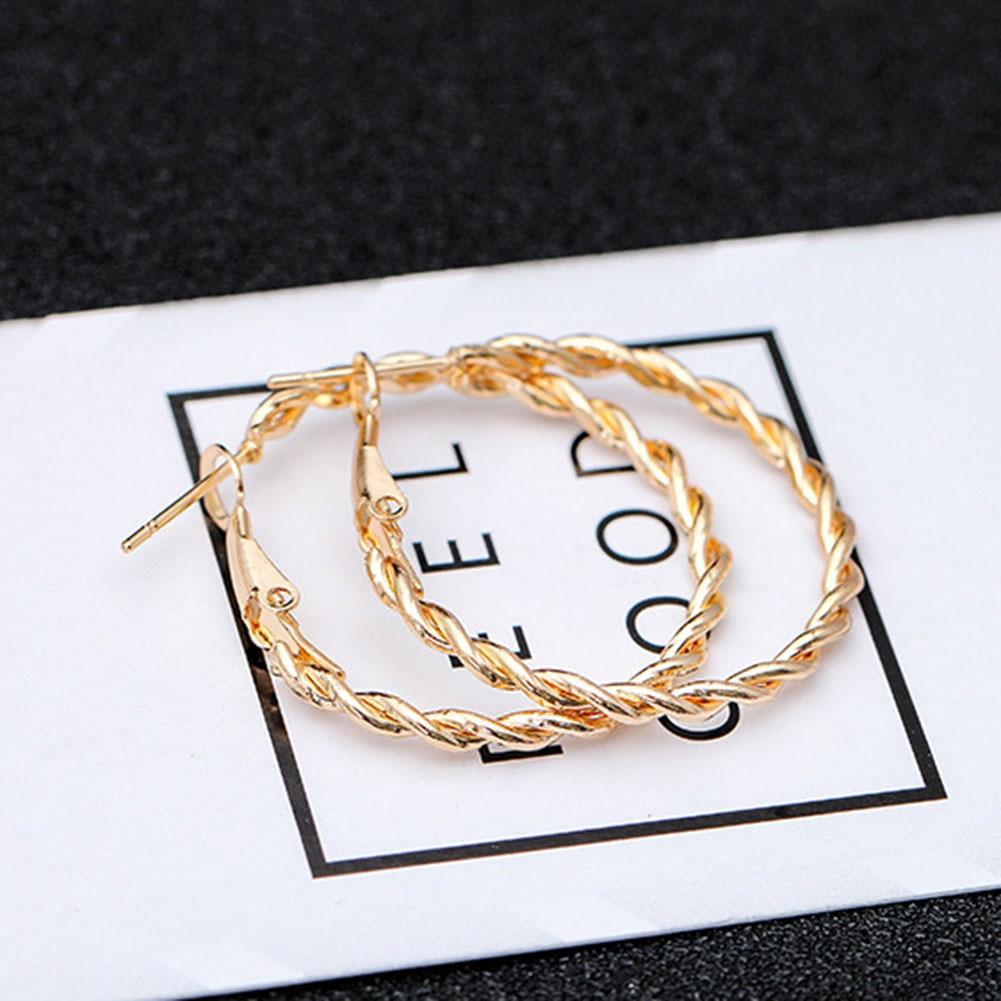 2020 gold earrings for women fashion large hollow circle earrings ball party nightclub gift girlfriend pledge earrings